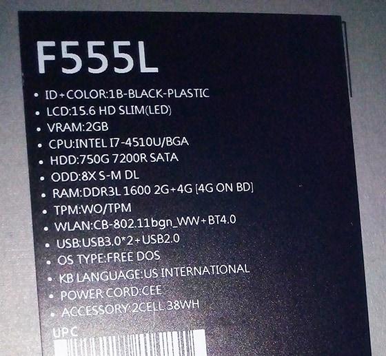 ASUS F555LN 1